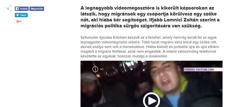 Az M1 új köntösben tálalja a kamu kölni videós mellényúlását