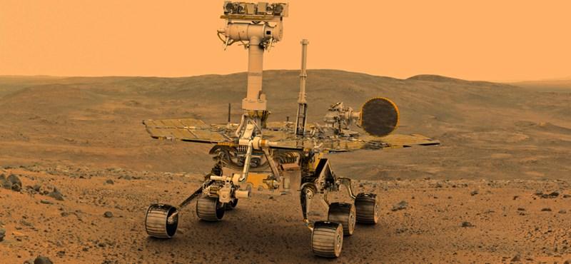 Bajba került a NASA marsjárója egy porvihar miatt