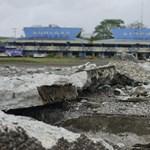 Fotók: még a futópálya is megrepedt a Fülöp-szigeteki földrengésben