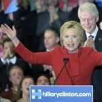 Hillary Clinton egy lépéssel közelebb az elnökjelöltséghez