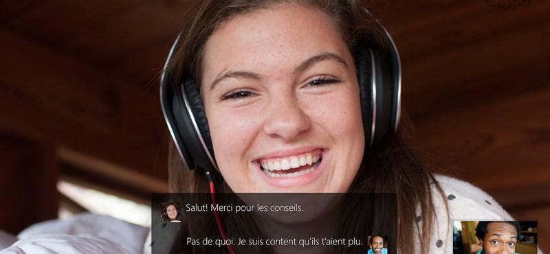 Már telefonhívást is valós időben, hangban fordít a Skype
