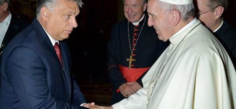 Ferenc pápa nem beszélgetett Orbánnal, csak köszöntek