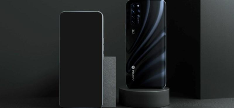 A ZTE új telefonjának előlapján nem látszik a kamera, pedig van benne