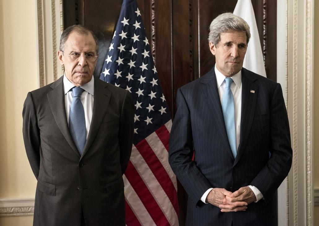 afp.14.03.14. - London, UK: Sergey Lavrov, John Kerry találkozó