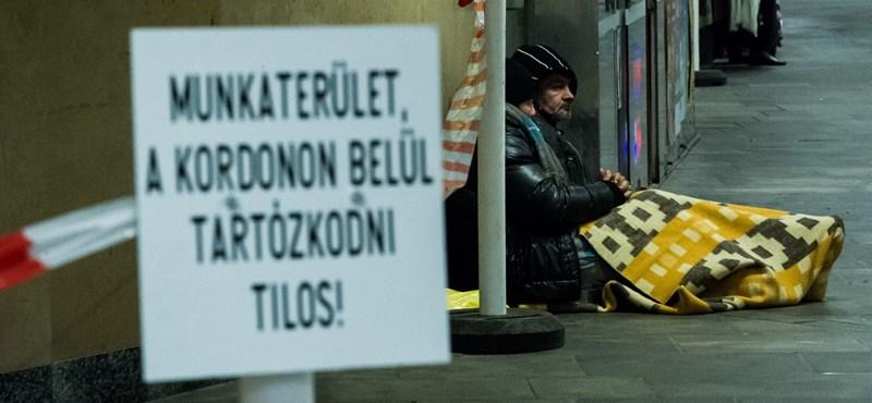 A hajléktalan embereket büntetik valódi megoldások helyett