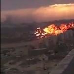 Videó: Lakóövezetbe csapódott egy MiG Líbiában