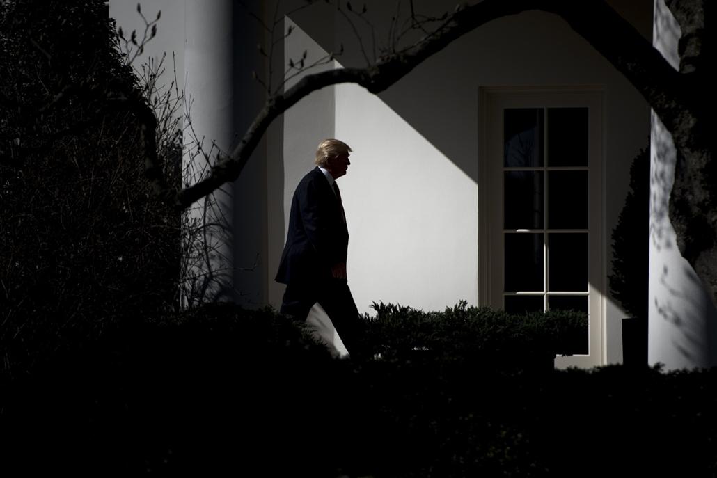 afp.17.02.24. - Washington, USA: Donald Trump a Fehér Ház előtt. - 7képei