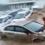 Videó: gyakorlatilag szörföztek az autók Ankara főutcáján
