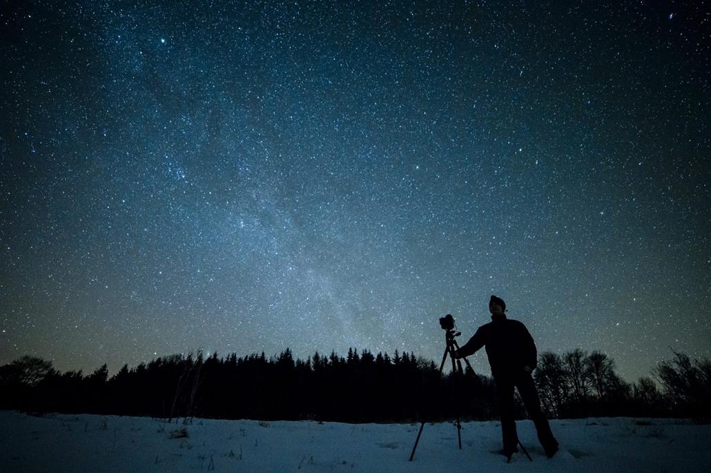 mti. 2015.02.13. Felsőtárkány, Felmérik a Bükki Nemzeti Park fényszennyezettségét a csillagoségbolt-park cím megszerzéséért