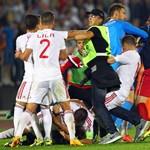 Újabb képek jelentek meg a drón miatt verekedő focistákról - fotók