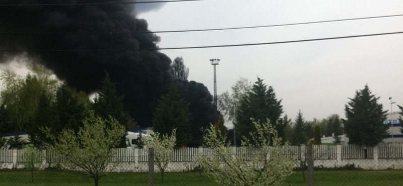 Hatalmas tűz Zuglóban: égett a Rákos-pataknál összehordott szeméthegy - fotók