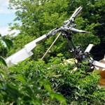 Nem családi ház kertjébe zuhant a helikopter