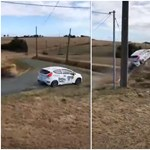 Hatalmasat repült egy Ford Fiesta a hétvégi francia ralin – videó