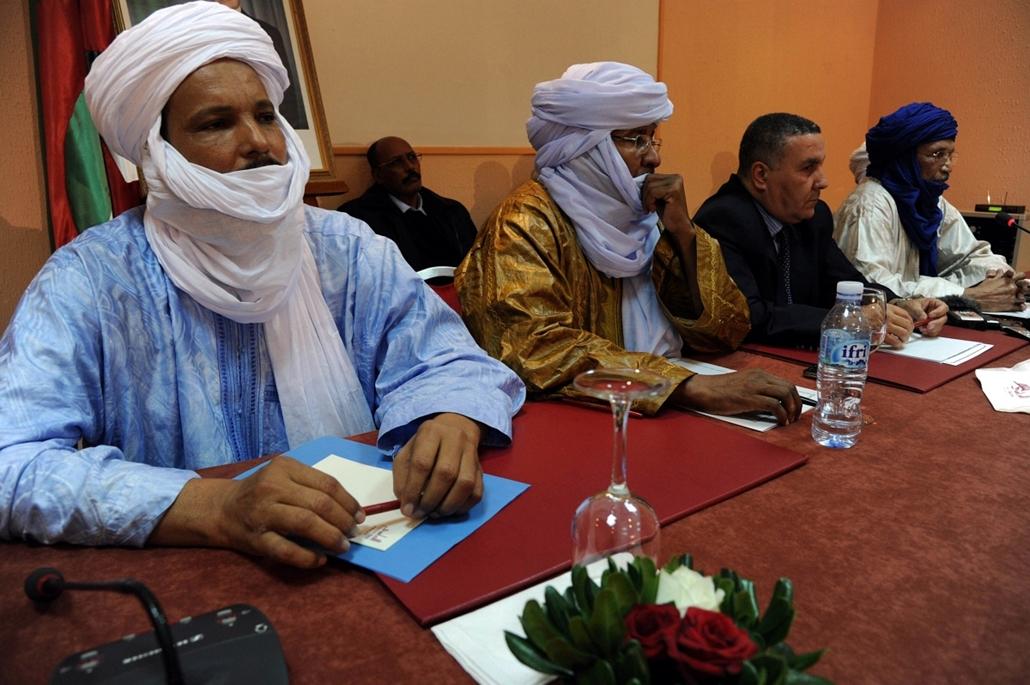 Malinagyítás afp, Mali, algéria, francia beavatkozás - tuareg Nemzeti Mozgalom ülés, algír, 2012.12.21. mali, harcok
