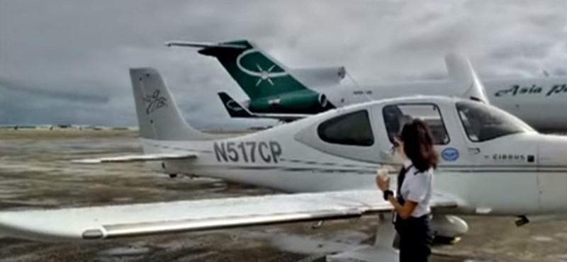 Egymotoros géppel repüli körbe a Földet egy nő