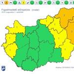 A fél országra figyelmeztetést adtak ki viharok miatt