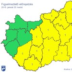 Térkép: Figyelmeztetést adtak ki az ország nagy részére