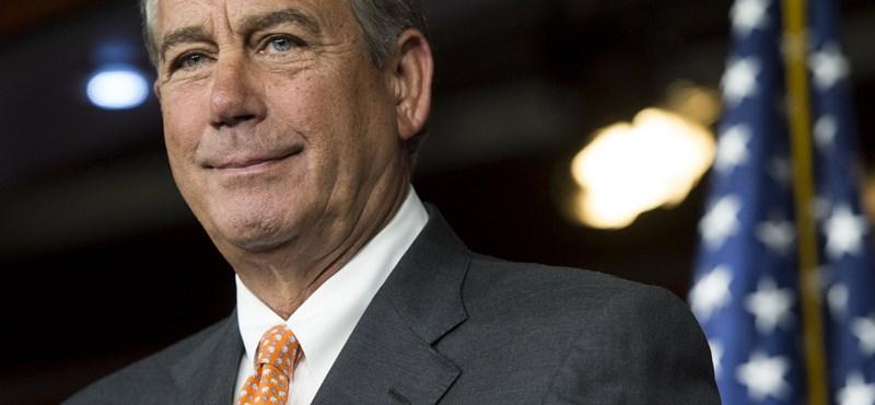 """Távozik az amerikai képviselőház """"sírós"""" elnöke, John Boehner"""