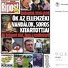 Kijavította a Hírcsárda a Ripost tüntetőket gyalázó címlapját