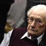 Kegyelmet kért a 96 éves auschwitzi lágerőr