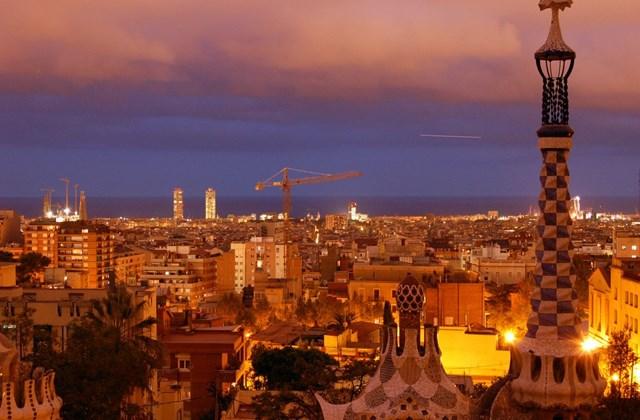 Barcelona - Éjszakai látkép