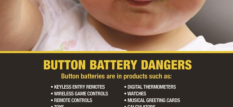 Leleplezték a 3 voltos gyerekgyilkost – Veszélyes elemeket talált a fogyasztóvédelem