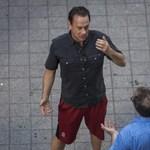 Fotók: A nyolckerben forgat Tom Hanks