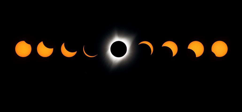afp.17.08.21. - Napfogyatkozás az egyesült államokban - Az oregoni Lowel observatóriumból készült kép a napfogyatkozásról