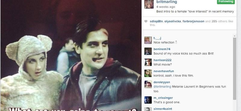 A hollywoodi színésznő a Kontrollból posztolt jelenetet Instagramjára