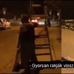 Az ellenzéki jelölt szerint hivatali autóval mentek leszedni a plakátjait a II. kerületben