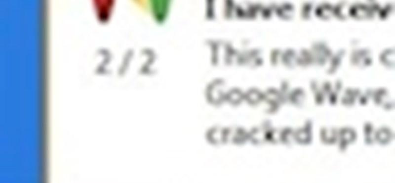 Értesüljön azonnal Google Wave üzeneteiről!