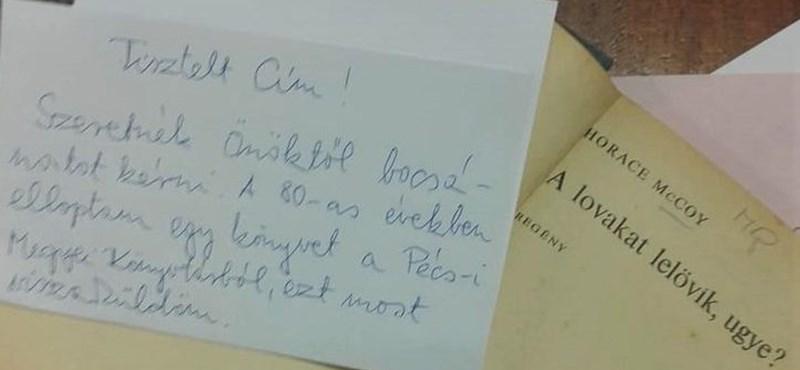 Harminc év után küldte vissza az ellopott könyvet a könyvtárba