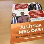 Megérkezett a Fidesz-plakát a postaládákba is