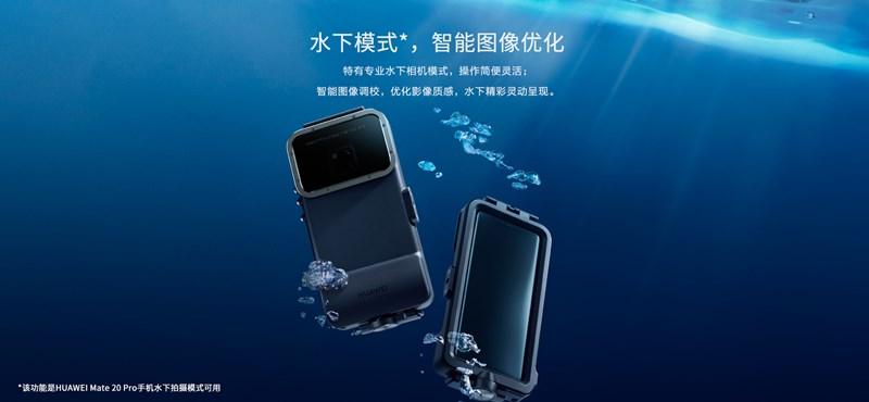 Spéci tok jött a Huawei mobiljához: aki felteszi, 5 méterrel a víz alatt is jó képeket csinálhat