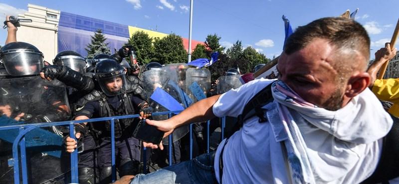 Bukaresti erőszakos tüntetés: a csendőrség szerint provokátorok voltak a tömegben