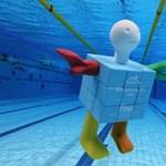 Egy kockaember, Cubeman lett a budapesti junior vizes-vb kabalája – fotók