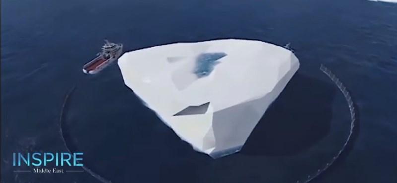 Az Antarktiszról vontatna az Emírségekbe egy hatalmas jéghegyet egy gazdag üzletember