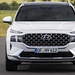 """""""Szigorú tekintetet"""" kapott a legújabb Hyundai Santa Fe"""