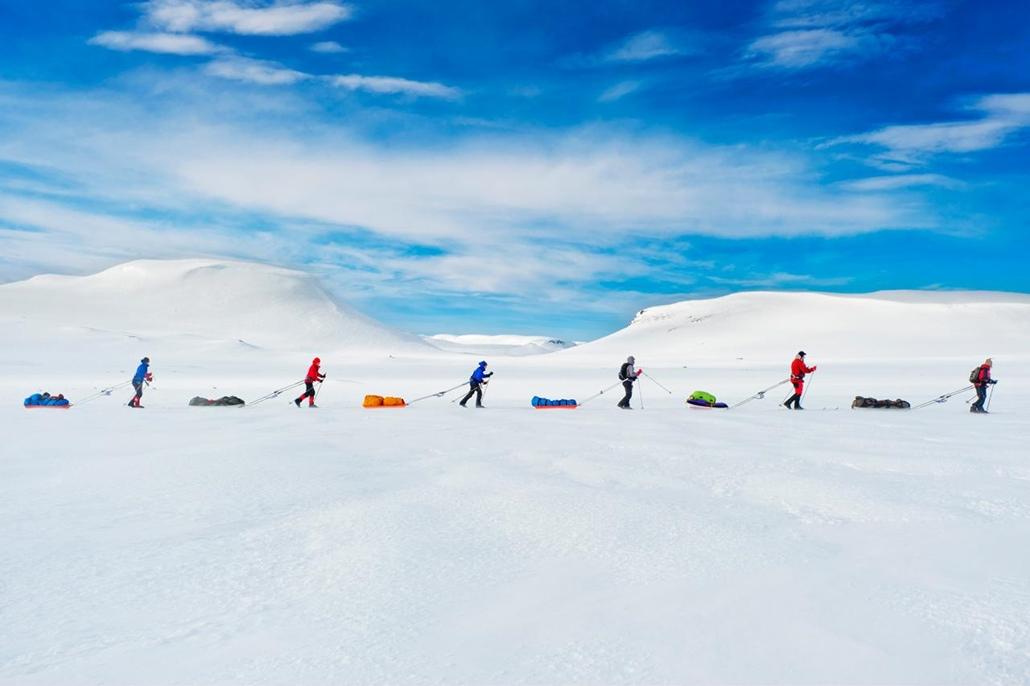 I. helyezett - az olvasók által legjobbnak ítélt kép 'emberek' kategóriában - Norvégia, Hardangervidda - Roald Amundsen nyomdokaiban járó verseny a norvégiai Hardangervidda Mountainplateu-n. - NatGeonagy