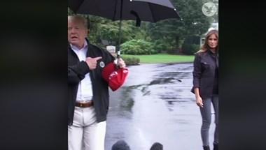 Ázni hagyta feleségét Donald Trump Floridában – videó
