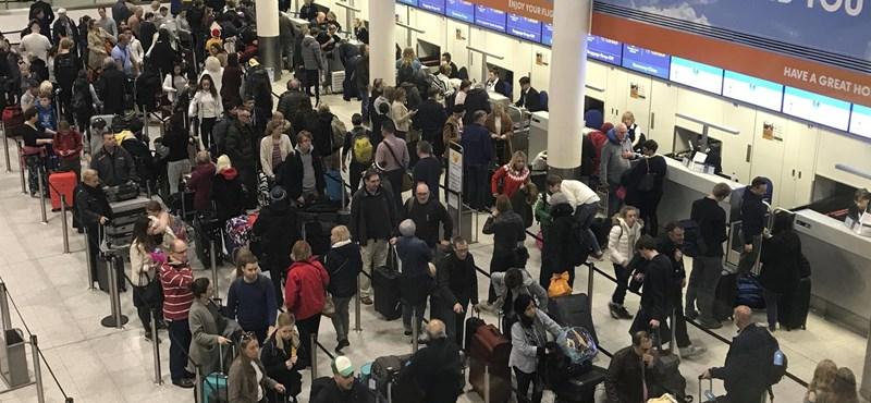 Megint drónt láttak, megint leállították a forgalmat a Gatwick repülőtéren