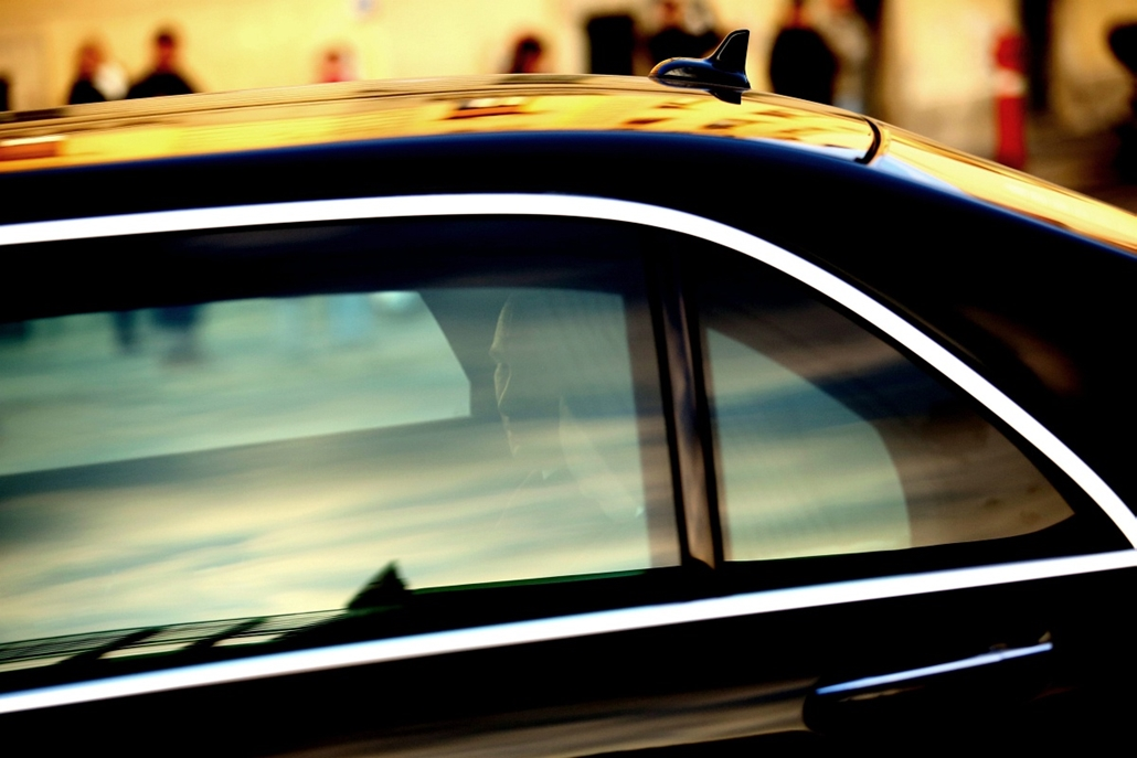 mti. Vlagyimír Putyin Budapesten - 2015.02.17. Putyin az autóban, Az elnöki limuzin