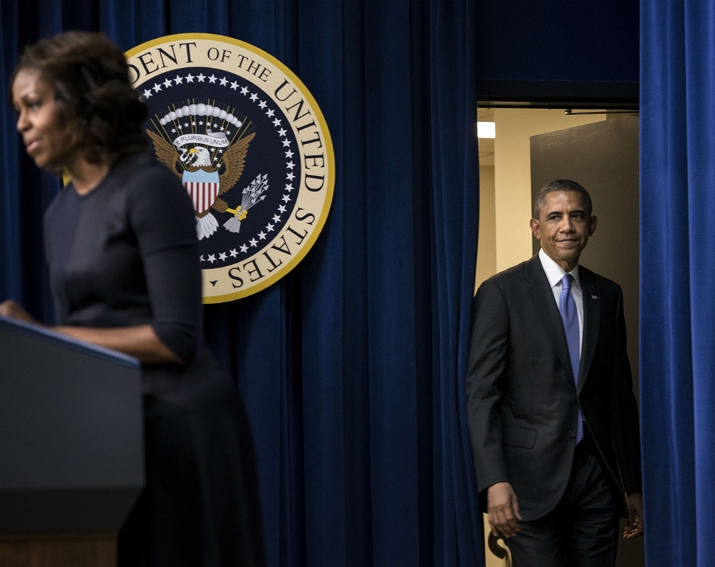 afp. Michelle Obama és Barack Obama 2014.01.16. Washington, USA