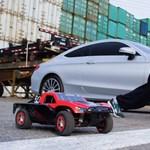Ki a gyorsabb egy konténervárosban? A szabadfutó, egy autó vagy egy modellautó