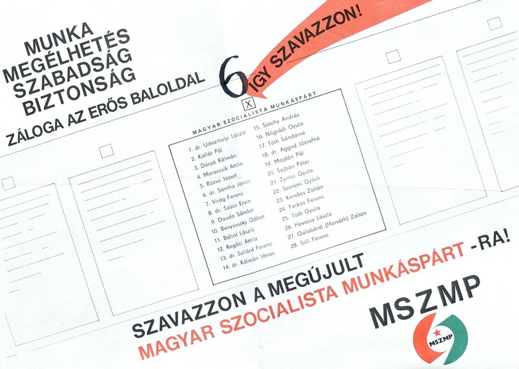 fm.15.03.23. - első szabad választások 1990. - választási plakátok repró