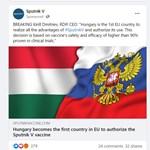Az oroszok Facebook-hirdetésben promózzák, hogy itthon engedélyezték a Szputnyik-vakcinát