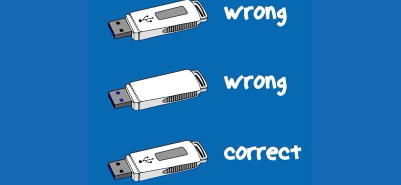 Lifehack: így dughatja be elsőre jól az USB-csatlakozós kábelt