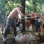 Béke boraikra: sírt ástak a hordóknak – fotó