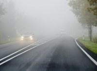 Hat megyére adtak ki figyelmeztetést a nagy köd miatt