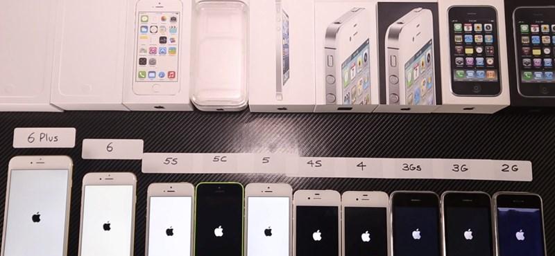 Összehasonlító videón az eddig megjelent 10 iPhone